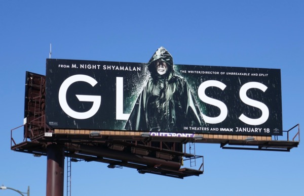 Bruce Willis Glass movie billboard