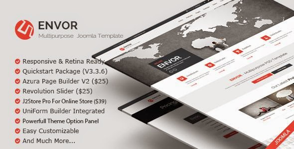 Envor Multipurpose Joomla Template
