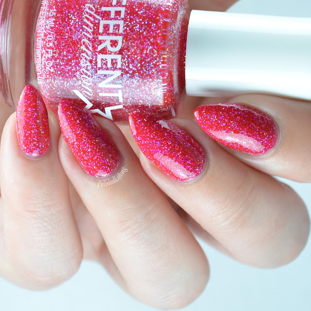 red holo nail polish
