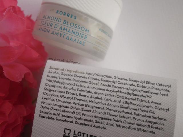 Korres Moisturising Cream Almond Blossom