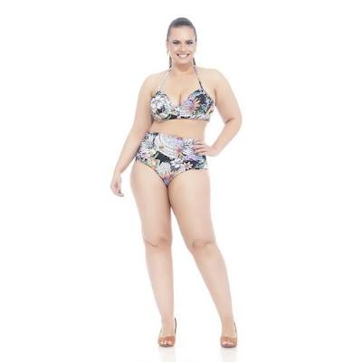 Biquini Plus Size Estampado Flórida