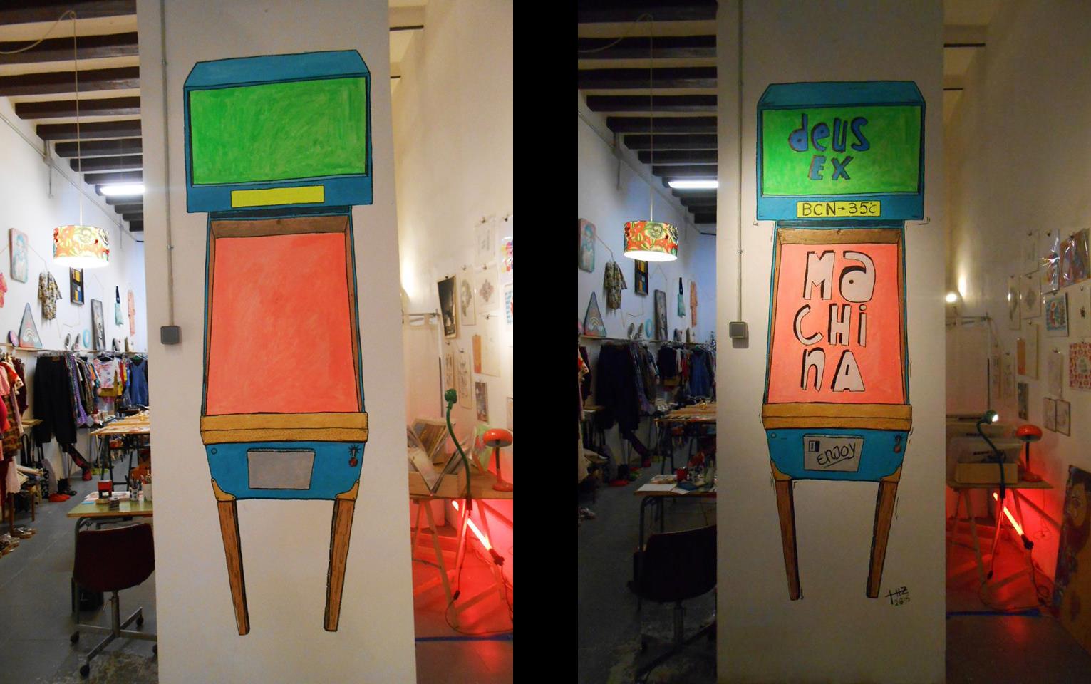 Barcelona street art ciclos art o una tienda compartida - Lucio barcelona decoracion ...