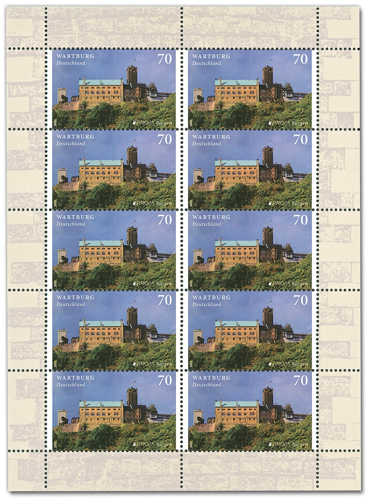 This Stamp Is Also Issued With Another German In A Booklet Of 20 Self Adhesive Stamps 10 Europa