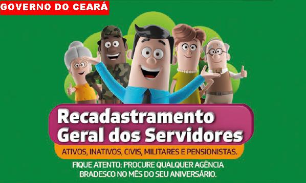 Governo do Estado do Ceará fará recadastramento de todos os servidores a partir de janeiro de 2018