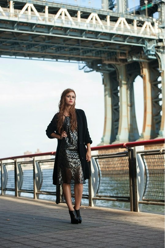 Holland Roden poses for BCBGeneration's Fall/Winter 2014 Campaign