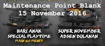 Event PB Maintenance 15 November 2016 Spesial Menyambut Hari Anak