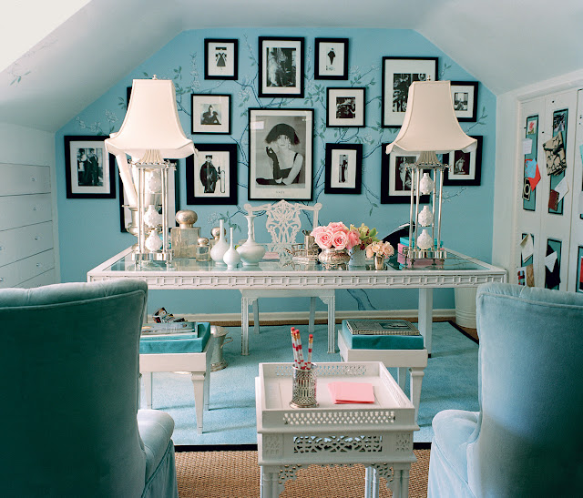 Gorgeous Tiffany Blue room by Mary McDonald