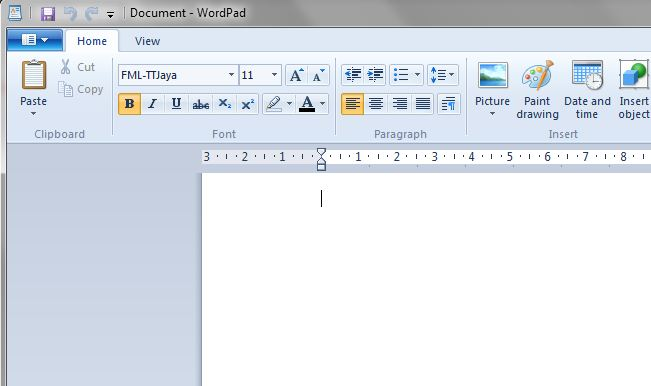 Set Font in Wordpad