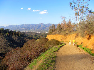 Heading northeast on Bill Eckert Trail in Griffith Park