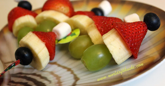 Grinch Fruit Kabobs