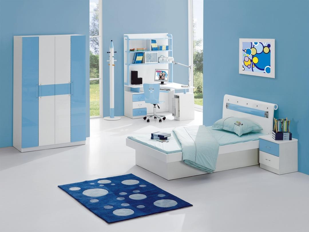 Kết quả hình ảnh cho phòng ngủ màu xanh baby blue