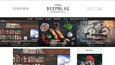 Deep Blog Blogger Template