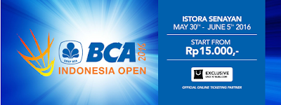Beli Tiket BCA Indonesia Open Super Series Premier 2016