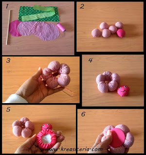 Tutorial bunga pom-pom dari bahan kain perca part 1