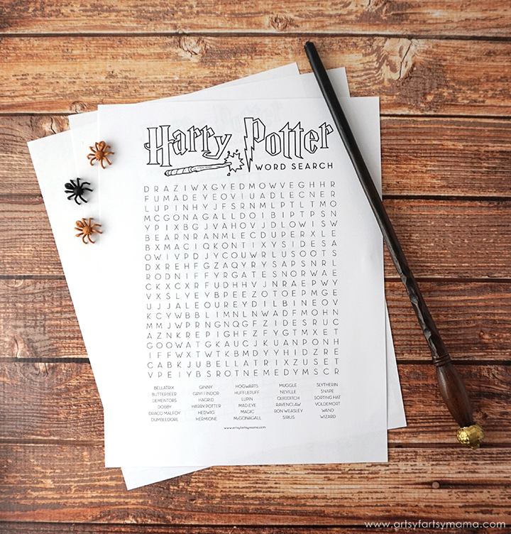 image regarding Harry Potter Crossword Puzzle Printable named No cost Printable Harry Potter Recreation Pack artsy-fartsy mama