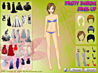 Pretty Barbie Dress Up Game