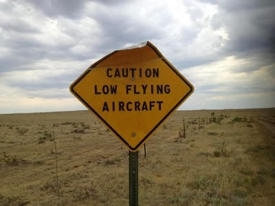 Funny Caution Low Flying Aircraft Sign Joke Picture