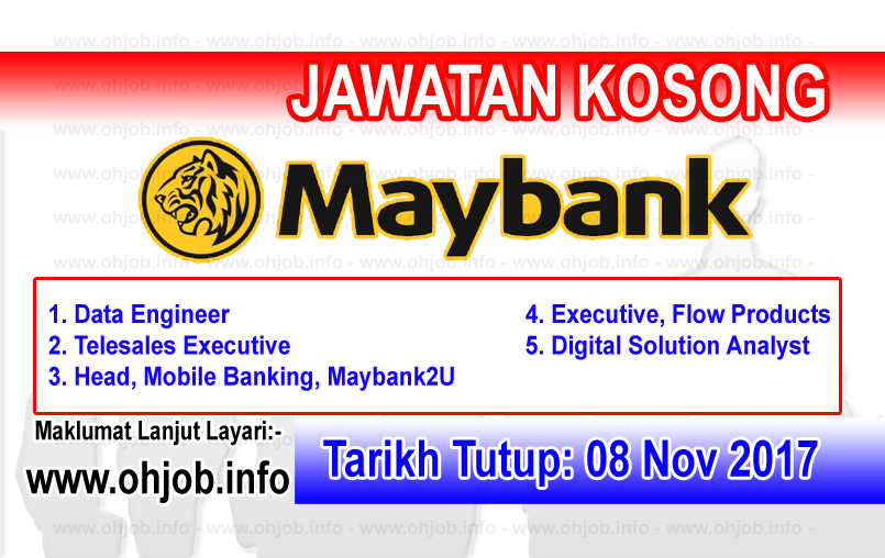 Jawatan Kerja Kosong Maybank - Malayan Banking Berhad logo www.ohjob.info november 2017