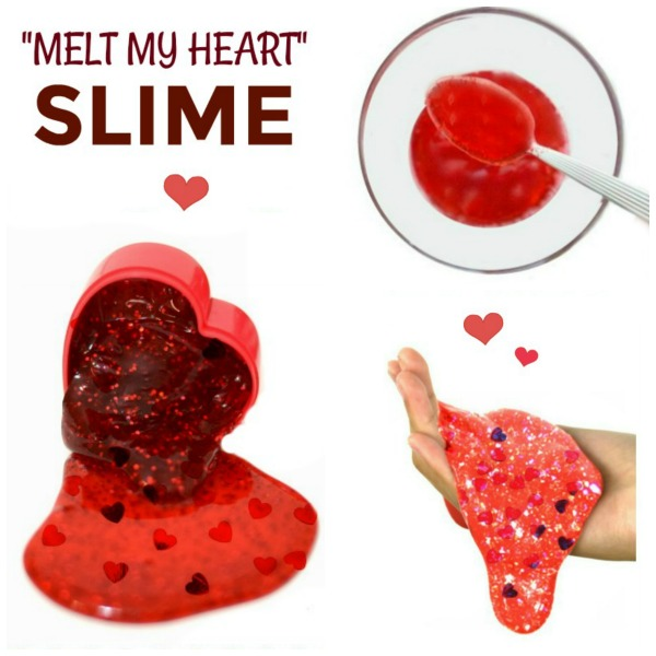 """YOU MELT MY HEART"" Valentine's Slime for kids #slimerecipe #slimerecipeforkids #calentinesactivitiesforkids #valentinescraftsforkids #playrecipesforkids #playrecipes"