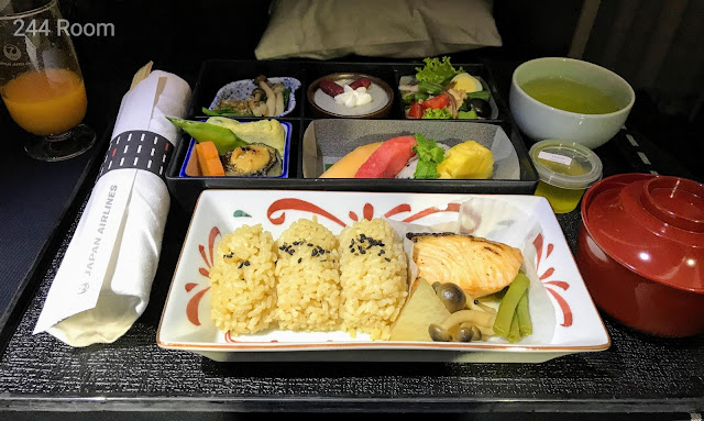 JALビジネスクラスシート機内食 Business class flight meal