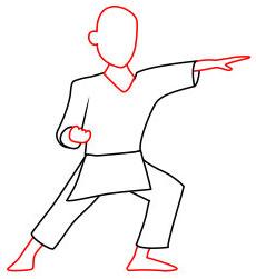 Langkah 5. Super Simpel Menggambar Karateka