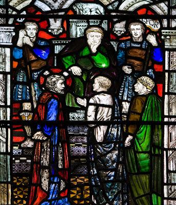 Imagem de Jesus sendo julgado, vitral, #1