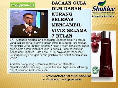Testimoni Vivix Gula Dalam Darah