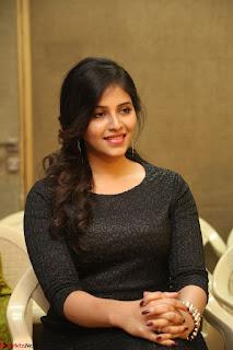 Anjali in Black Short Dress at Chitrangada Movie Success Meet ~  011.JPG