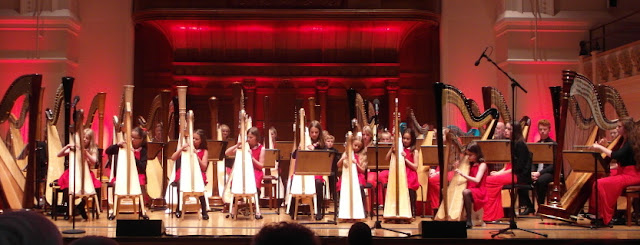 National Youth Harp Orchestra at the Cadogan Hall in 2015