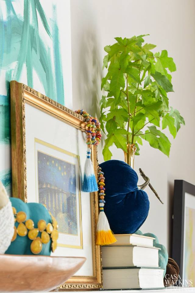 Casa Watkins Living: global fall mantel ideas