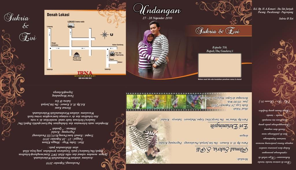 Desain Undangan Pernikahan Coreldraw Free