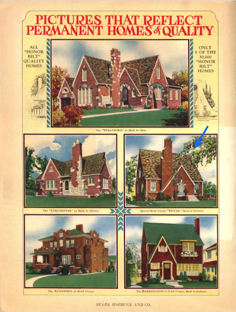 Mitch Mowrer's brick Dover among selection of five brick veneer houses in the 1930 Sears Modern Homes catalog
