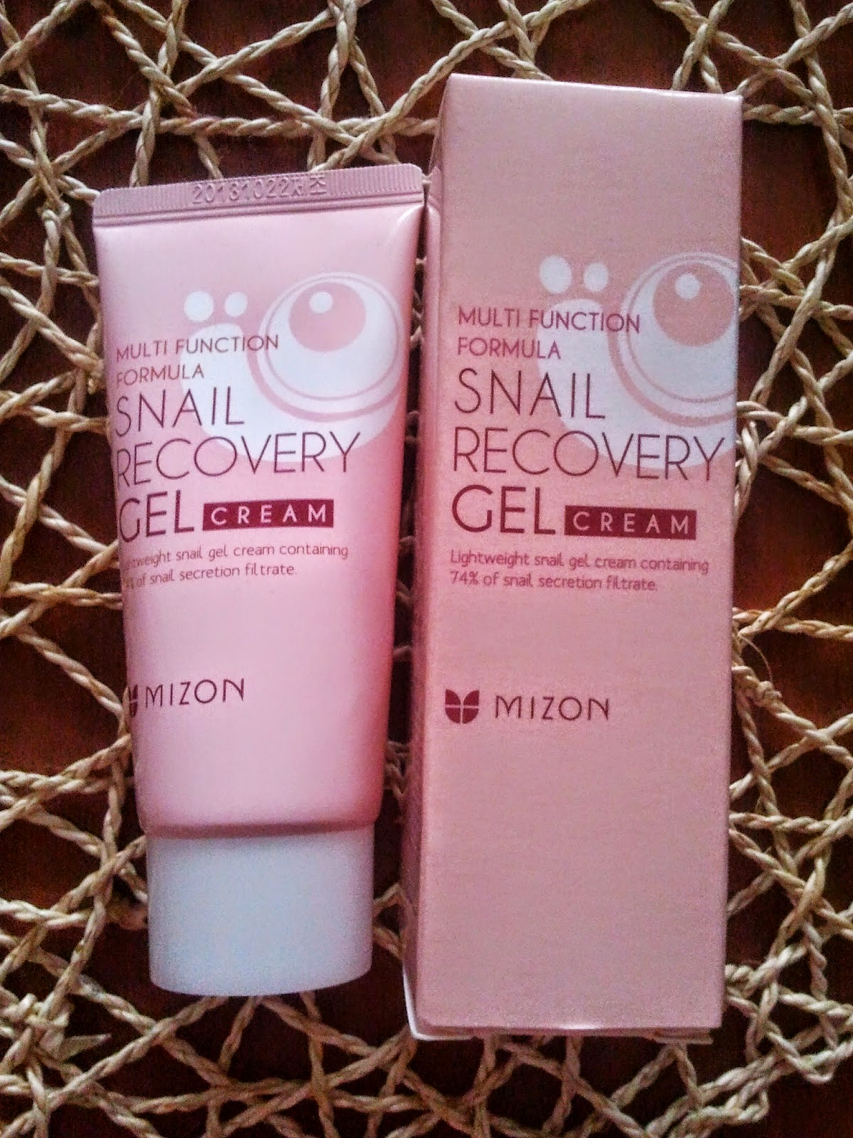 mizon, snail, cream, gel, recovery