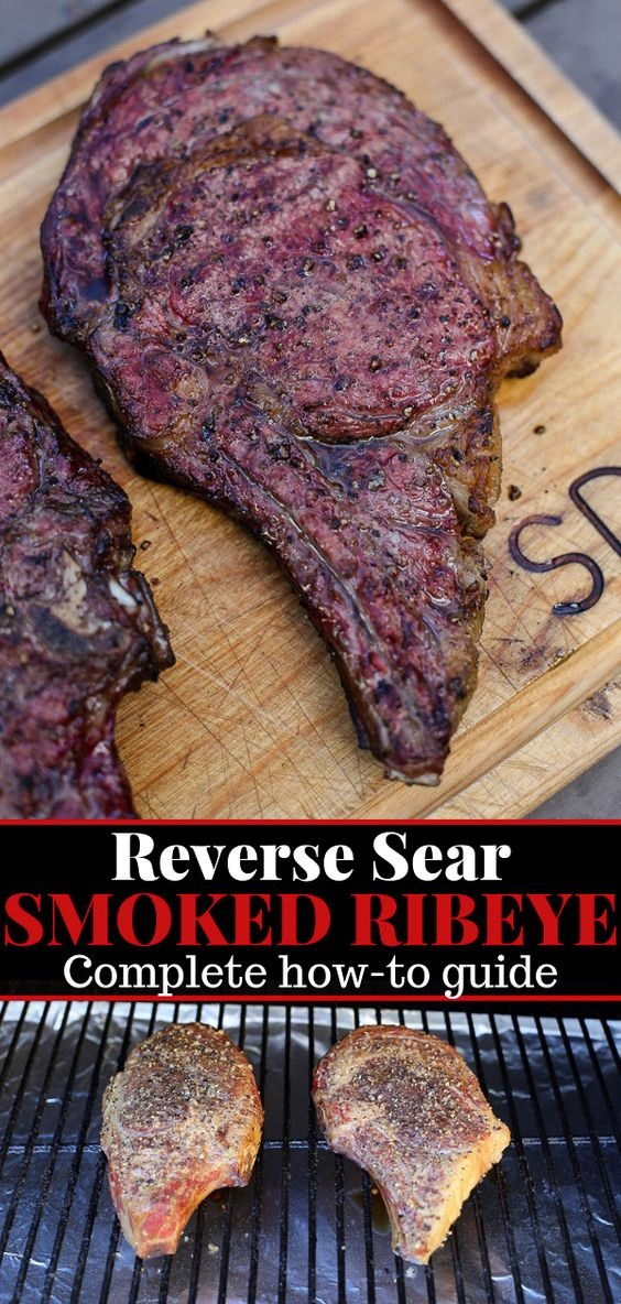 Reverse Sear Smoked Ribeye Steak