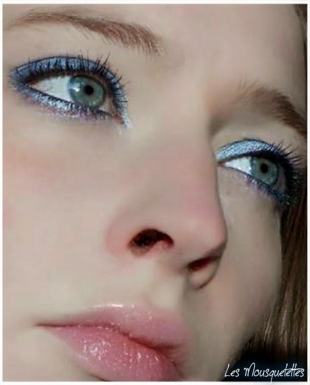 Makeup Bleu yeux bleus - Les Mousquetettes©