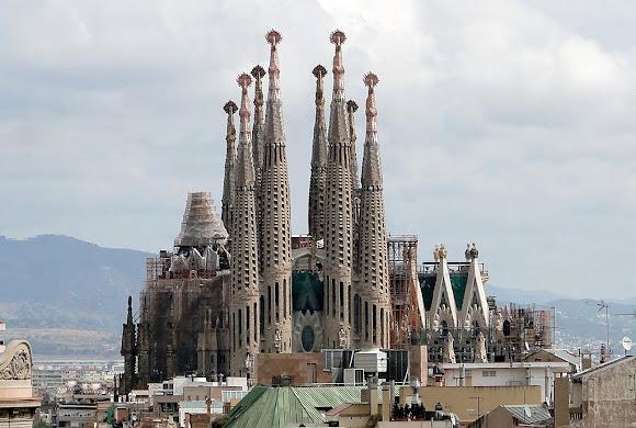 Gaudi Sagrada Familia Church in Barcelona