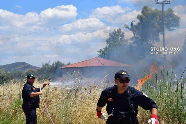 Πυρκαγιά στην Πουλακίδα του Δήμου Ναυπλιέων