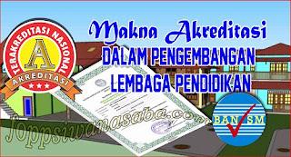 Makna Akreditasi dalam Pengembangan Lembaga Pendidikan