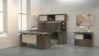 Mayline Sterling Collection Textured Driftwood Office Furniture