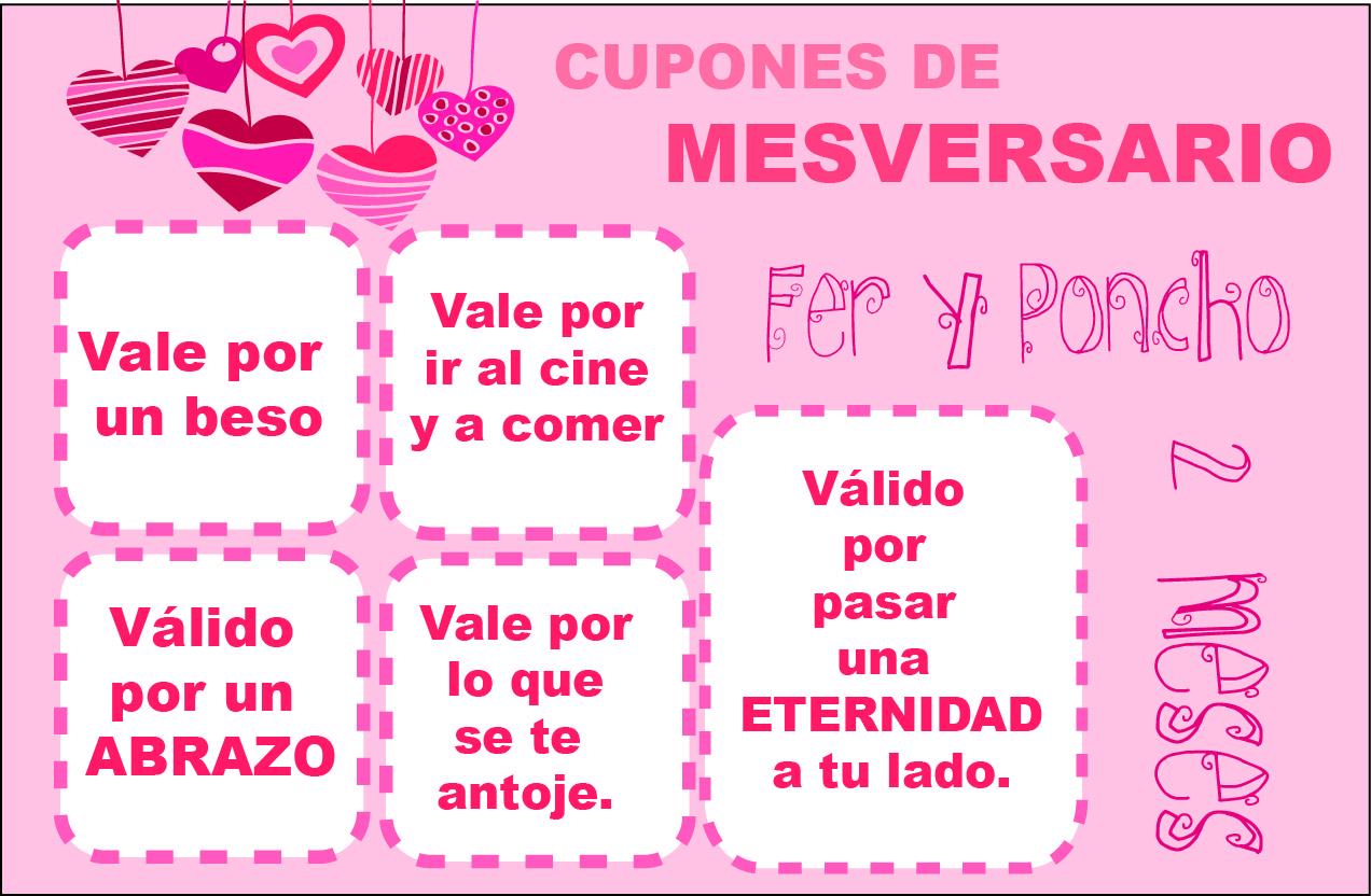 2 Mesversario Frases: Heroinesweetdesign: CUPONES DE MESVERSARIO