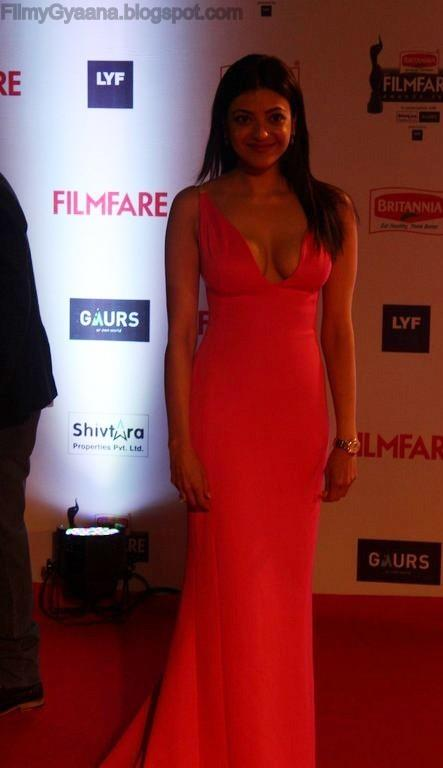 kajal agarwal flaunts asset in gown pic