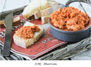 Chorizo, monchou, zelfgemaakt tomatensaus
