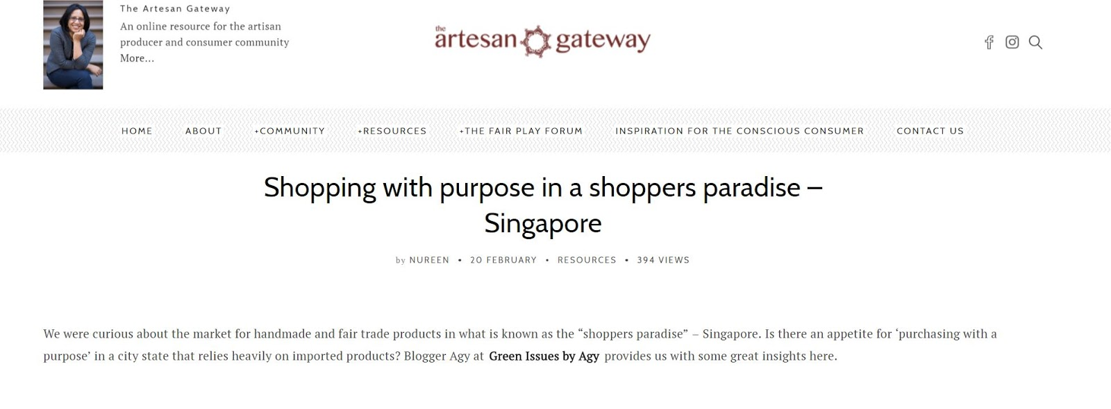 Shopping with a Purpose in Singapore - Handmade
