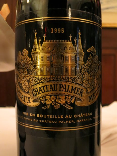 Wine Review of 1995 Château Palmer from AC Margaux, Bordeaux, France