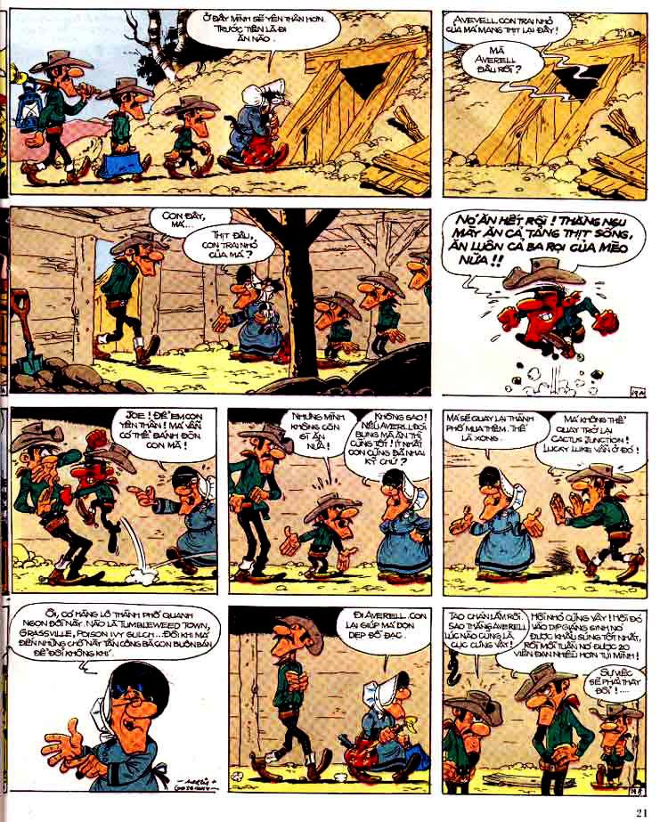 Lucky Luke tap 15 - ma dalton trang 22