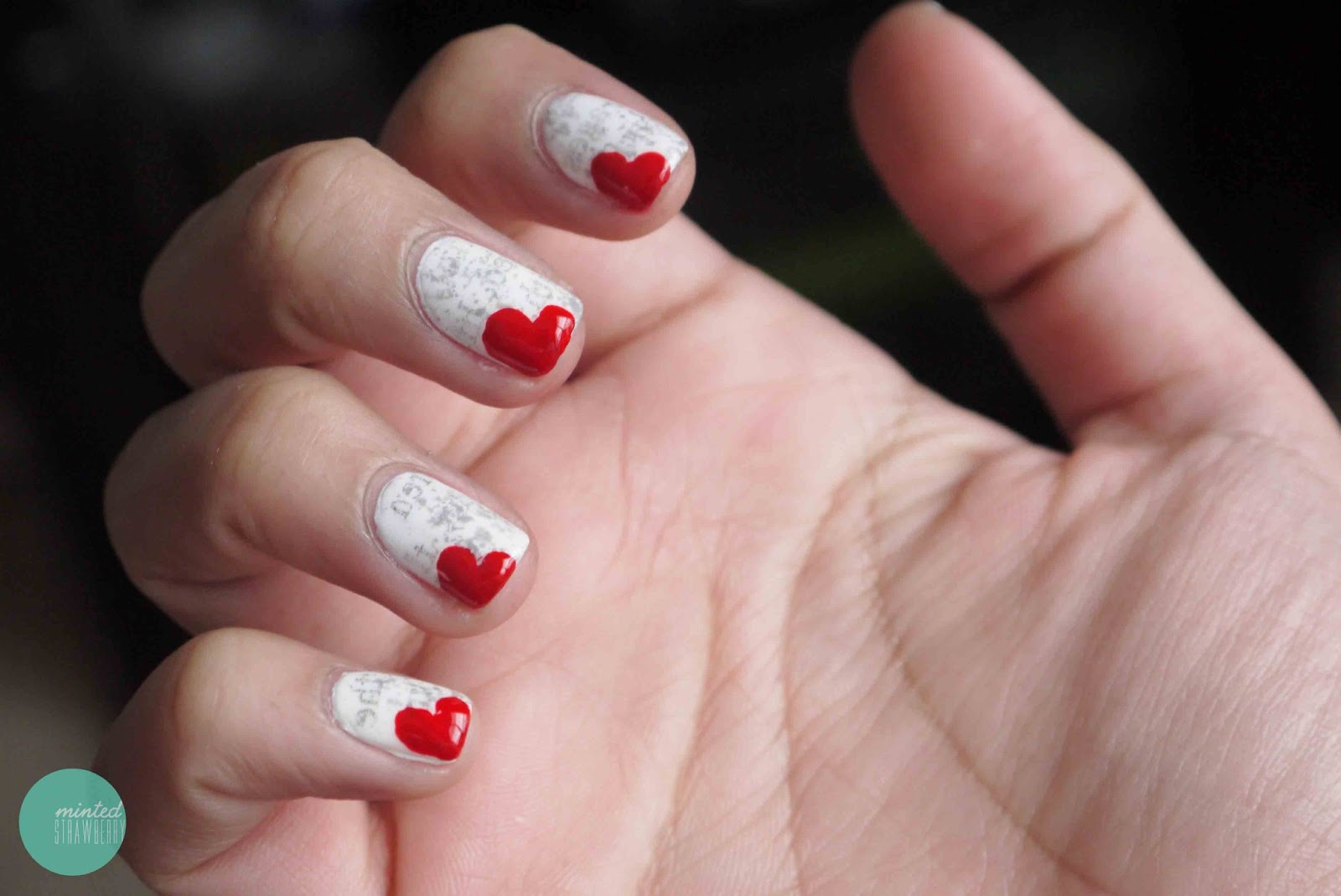 Nail Polish: Dirty Newspaper Nails + Heart Bookmark Nails - Minted ...