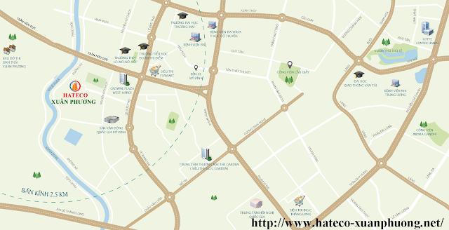 Vị trí vàng đắc địa của dự án Hateco Xuân Phương