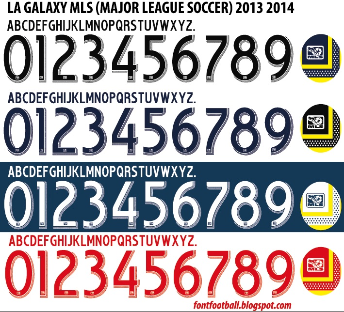 FONT FOOTBALL: Font Vector MLS (Major League Soccer USA) 2013 2014 kit