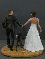 cake topper speciali matrimoni a tema statuine artistiche per torta orme magiche