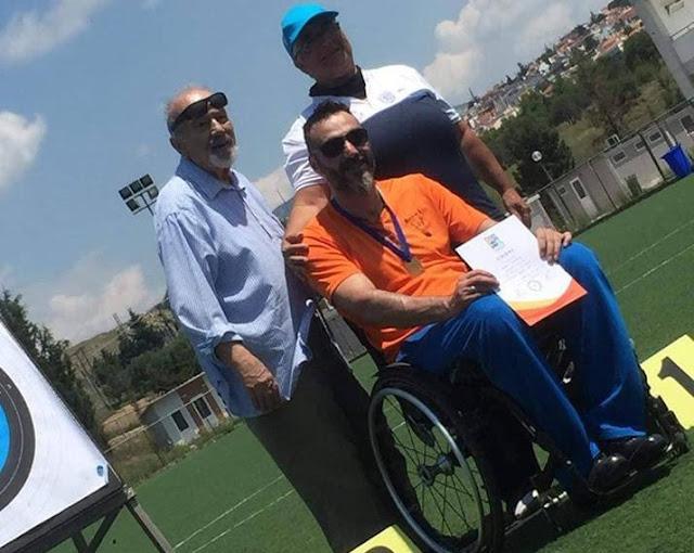 Πρώτη θέση για τον Κώστα Θεμελή στο Πανελλήνιο πρωτάθλημα τοξοβολίας - Στόχος του η Παραολυμπιάδα